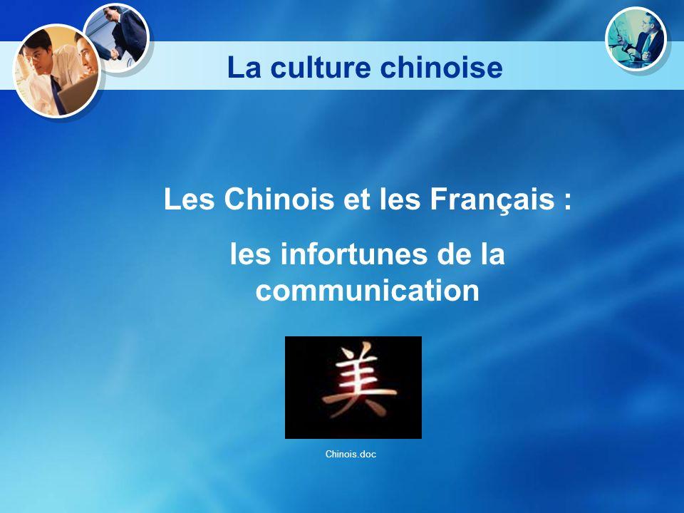 La culture chinoise Les Chinois et les Français : les infortunes de la communication Chinois.doc