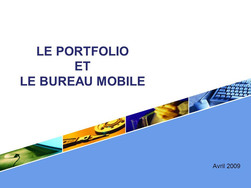 LOGO LE PORTFOLIO ET LE BUREAU MOBILE Avril 2009