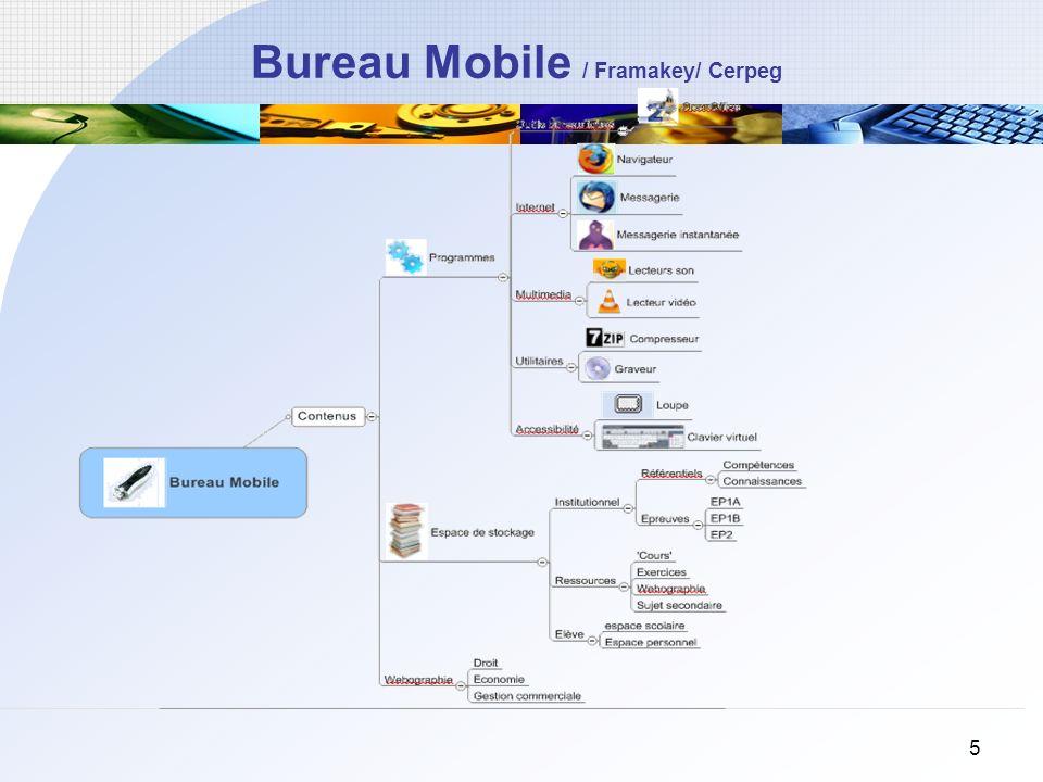 5 Bureau Mobile / Framakey/ Cerpeg