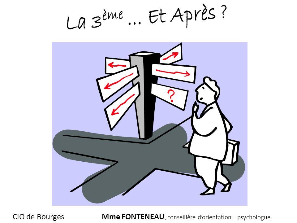CIO de BourgesMme FONTENEAU, conseillère dorientation - psychologue