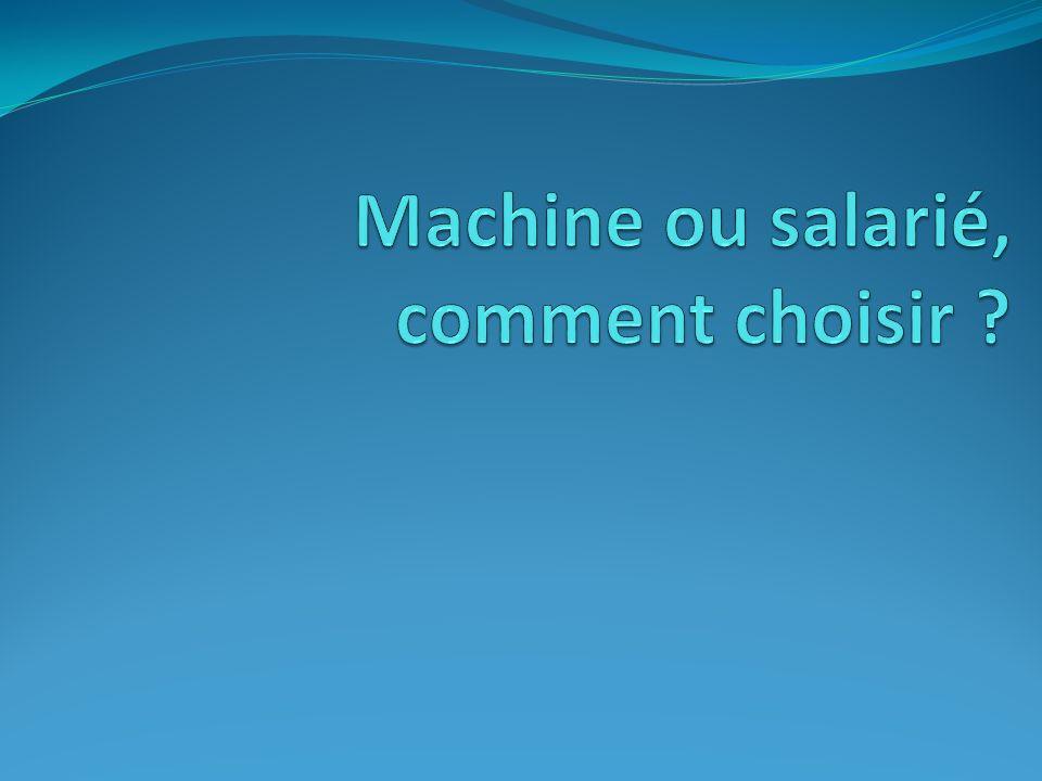 Machine ou salarié, comment choisir .