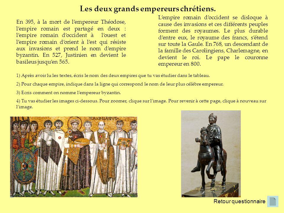 En 395, à la mort de lempereur Théodose, lempire romain est partagé en deux : lempire romain doccident à louest et lempire romain dorient à lest qui r