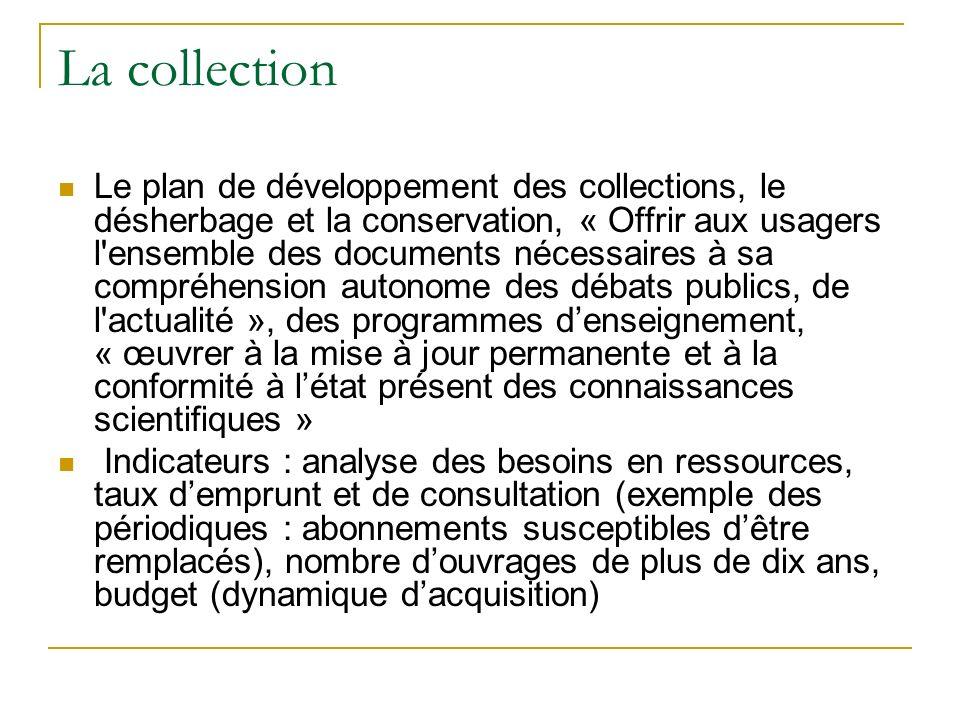 La collection Le plan de développement des collections, le désherbage et la conservation, « Offrir aux usagers l'ensemble des documents nécessaires à