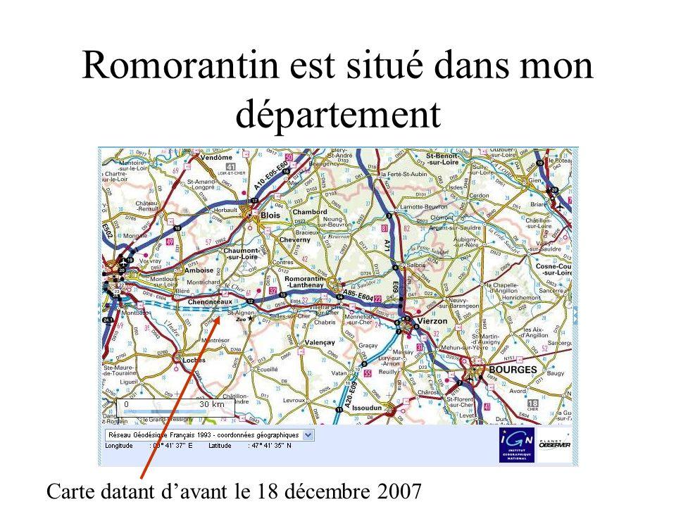 Romorantin est situé dans mon département Carte datant davant le 18 décembre 2007
