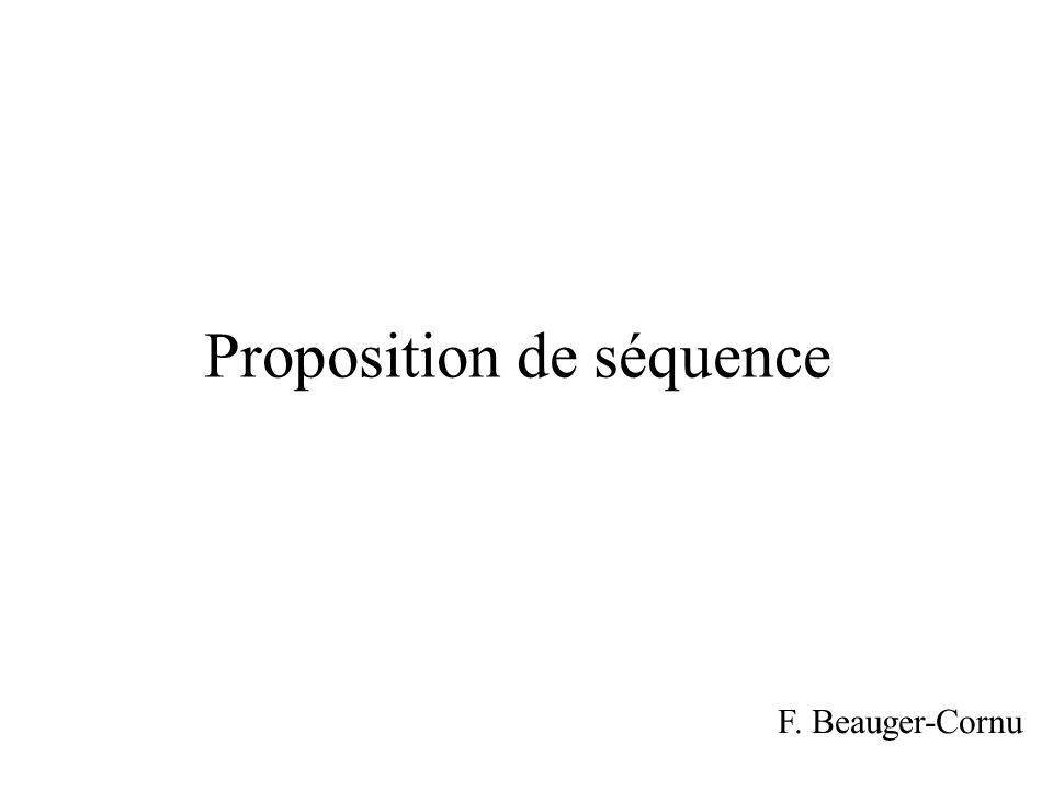 Proposition de séquence F. Beauger-Cornu