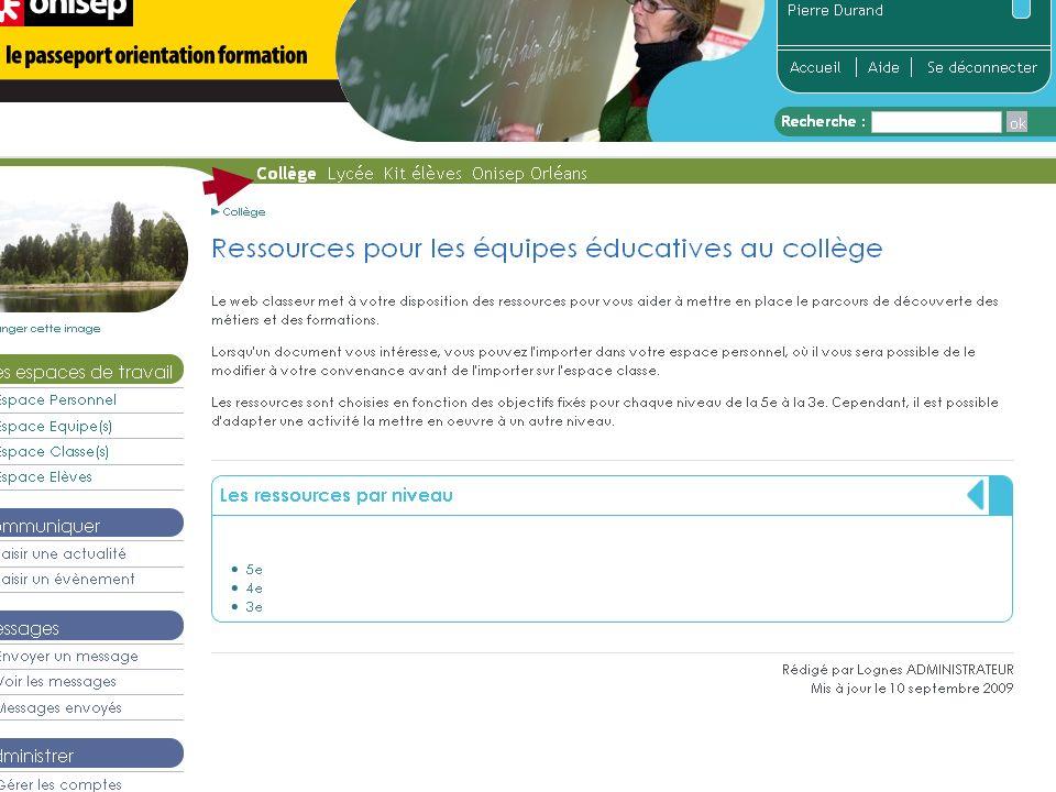 Page didentification Modalités autonome => adresse url
