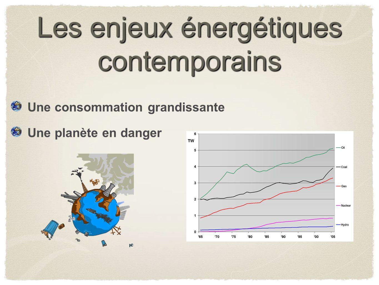 Les enjeux énergétiques contemporains Une consommation grandissante Une planète en danger