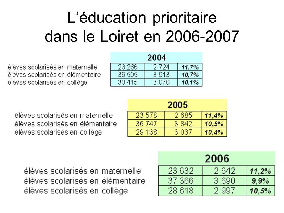 Léducation prioritaire dans le Loiret en 2006-2007