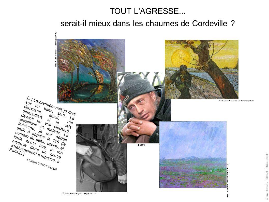 frère Marie-Thomas Scheid grand vent VAN GOGH semeur au soleil couchant Claude Monet Pluie à Belle-île 1886 TOUT L'AGRESSE... serait-il mieux dans les