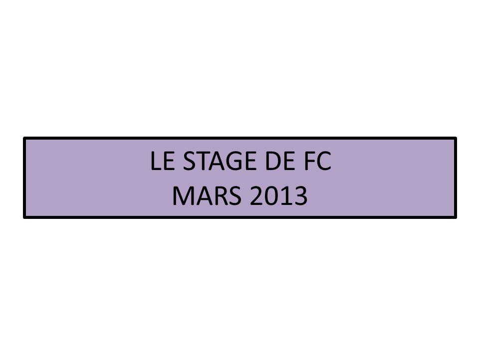 LE STAGE DE FC MARS 2013