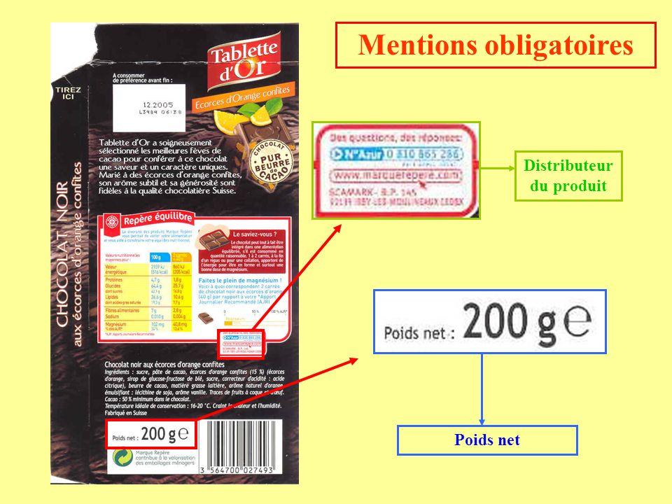 Poids net Distributeur du produit