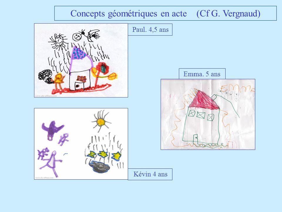 Emma. 5 ans Paul. 4,5 ans Kévin 4 ans Concepts géométriques en acte (Cf G. Vergnaud)
