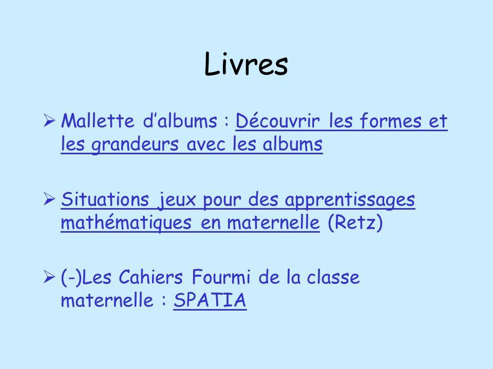 Livres Mallette dalbums : Découvrir les formes et les grandeurs avec les albums Situations jeux pour des apprentissages mathématiques en maternelle (R