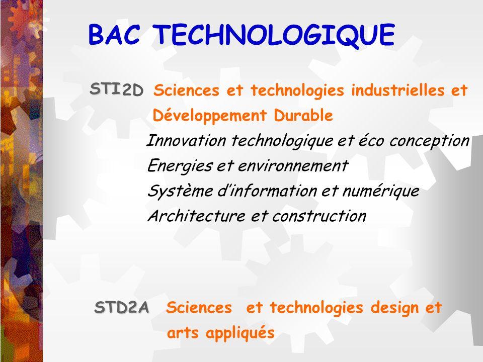 2D Sciences et technologies industrielles et Développement Durable Innovation technologique et éco conception Energies et environnement Système dinfor