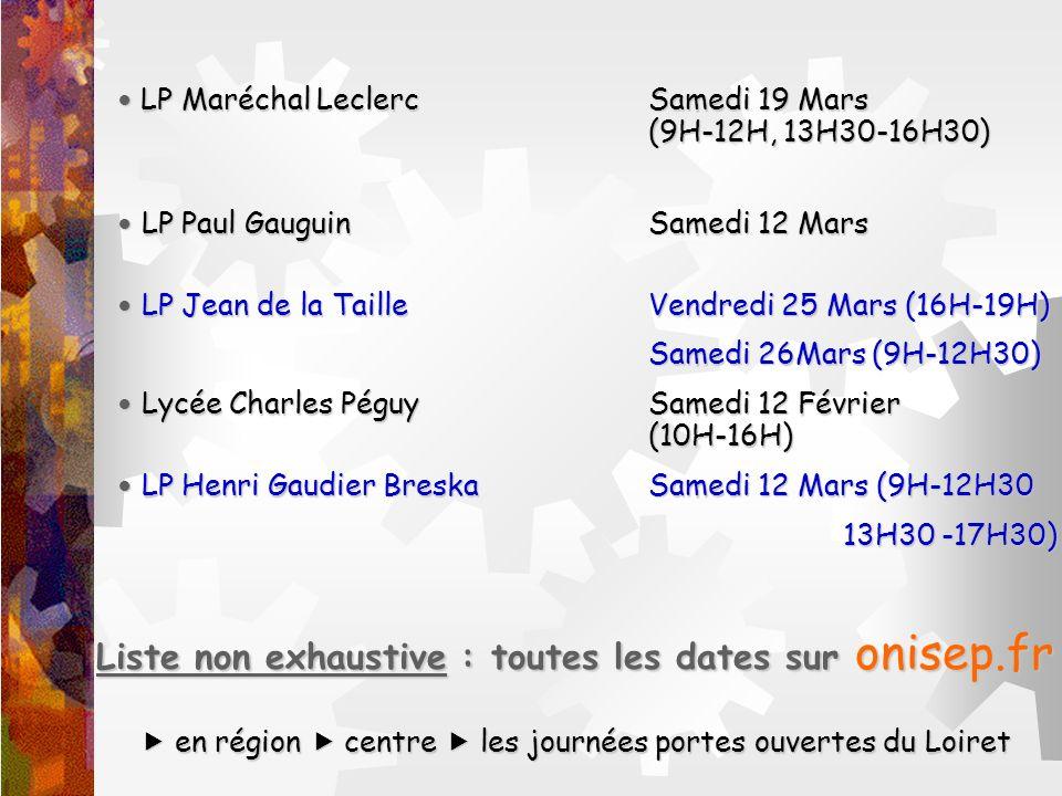 LP Maréchal LeclercSamedi 19 Mars (9H-12H, 13H30-16H30) LP Maréchal LeclercSamedi 19 Mars (9H-12H, 13H30-16H30) LP Paul Gauguin Samedi 12 Mars LP Paul