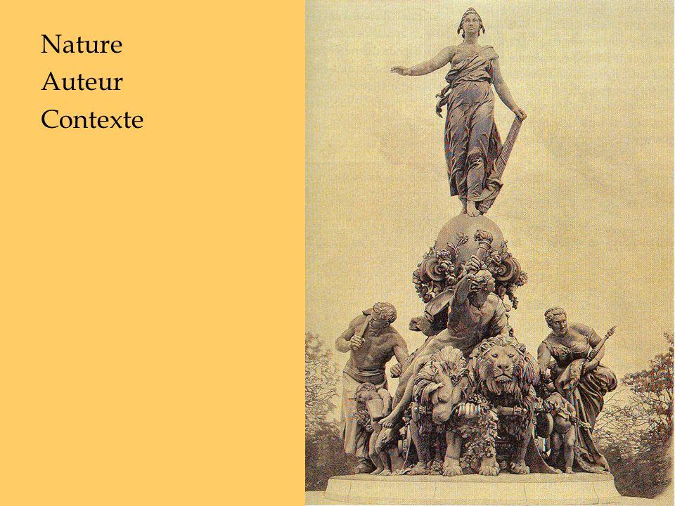 Nature Sculpture (groupe, bronze) exécutée entre 1881 et 1899 => allégories Auteur Contexte