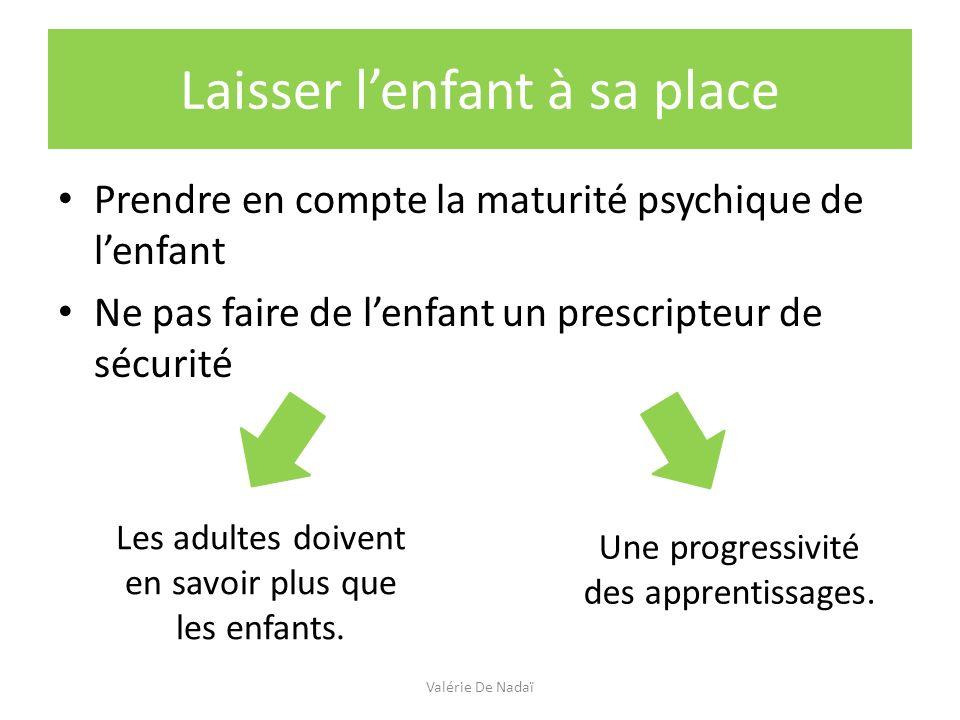Protéger / prévenir lenfant : Quelques principes à partager Valérie De Nadaï