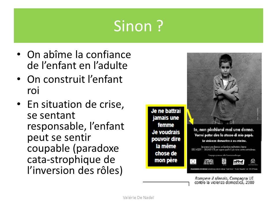 Laisser lenfant à sa place ou fabriquer des enfants : Valérie De Nadaï