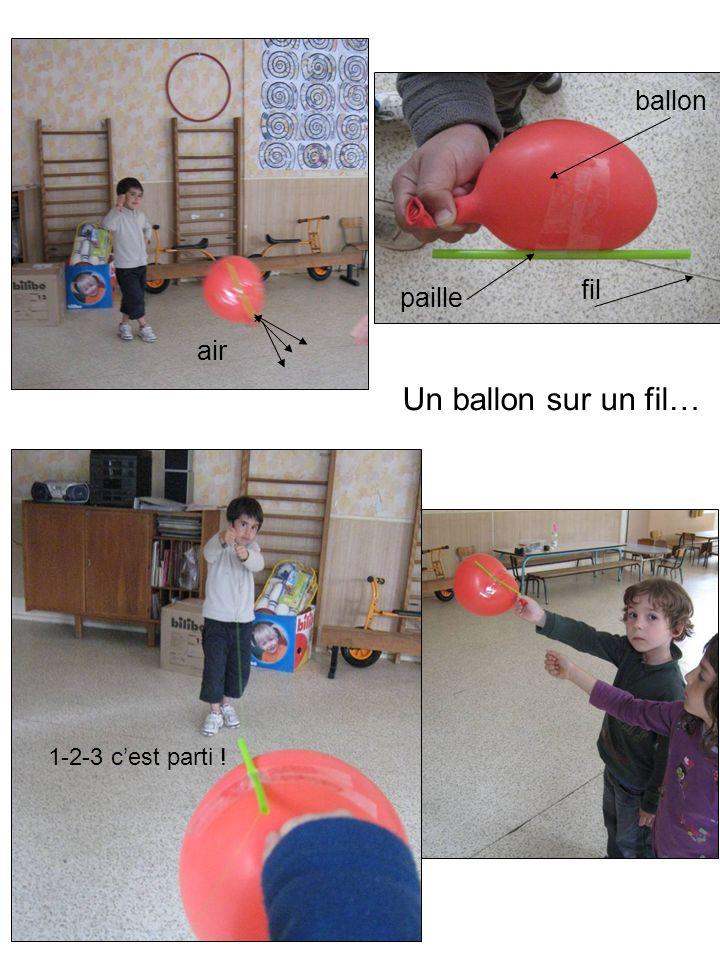 ballon paille fil prêts ? 1-2-3 cest parti ! air Un ballon sur un fil…