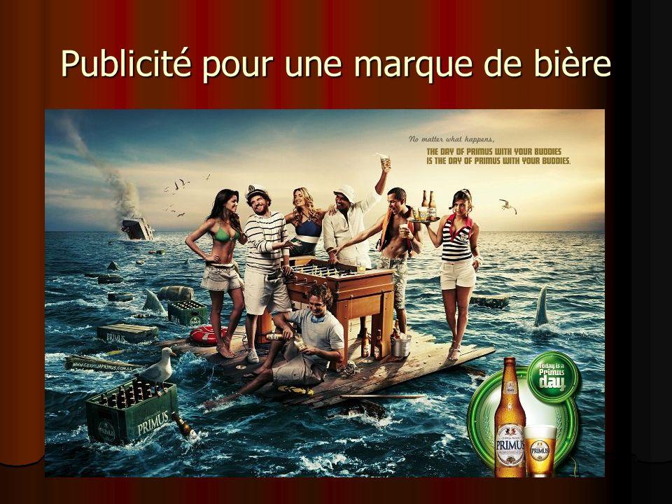 Publicité pour une marque de bière