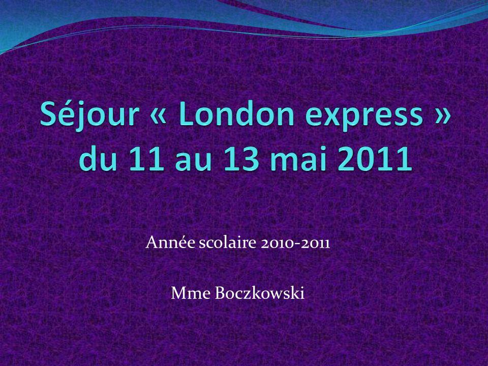 Année scolaire 2010-2011 Mme Boczkowski
