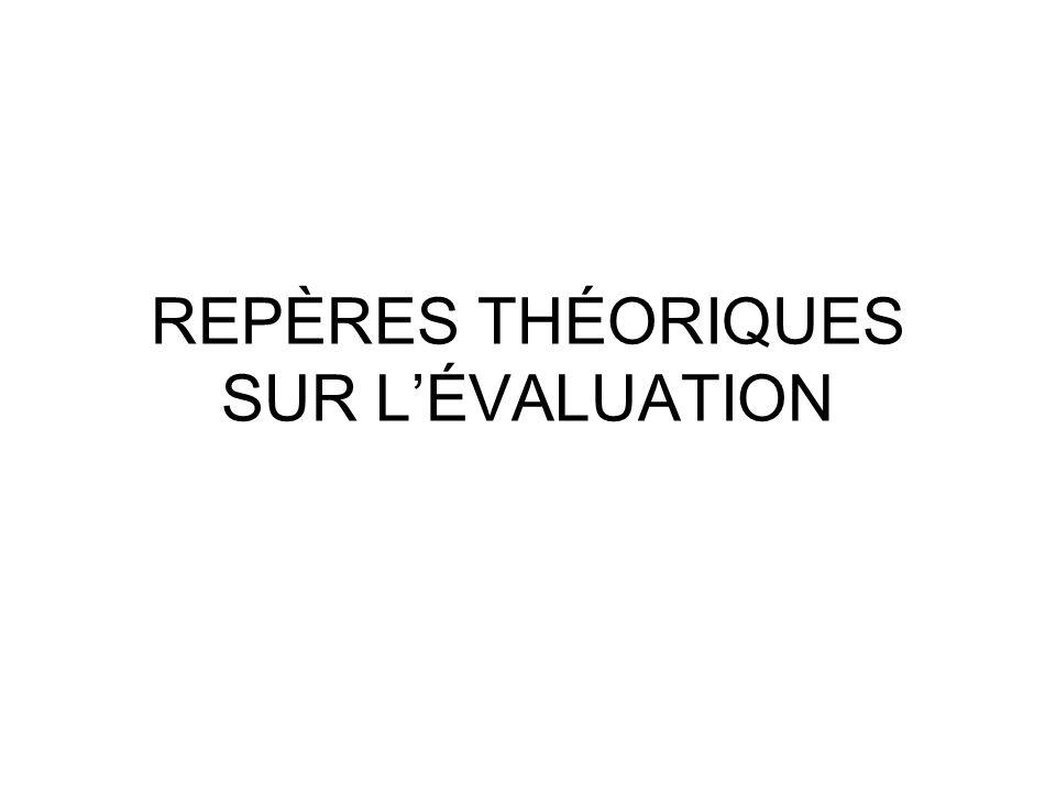 REPÈRES THÉORIQUES SUR LÉVALUATION