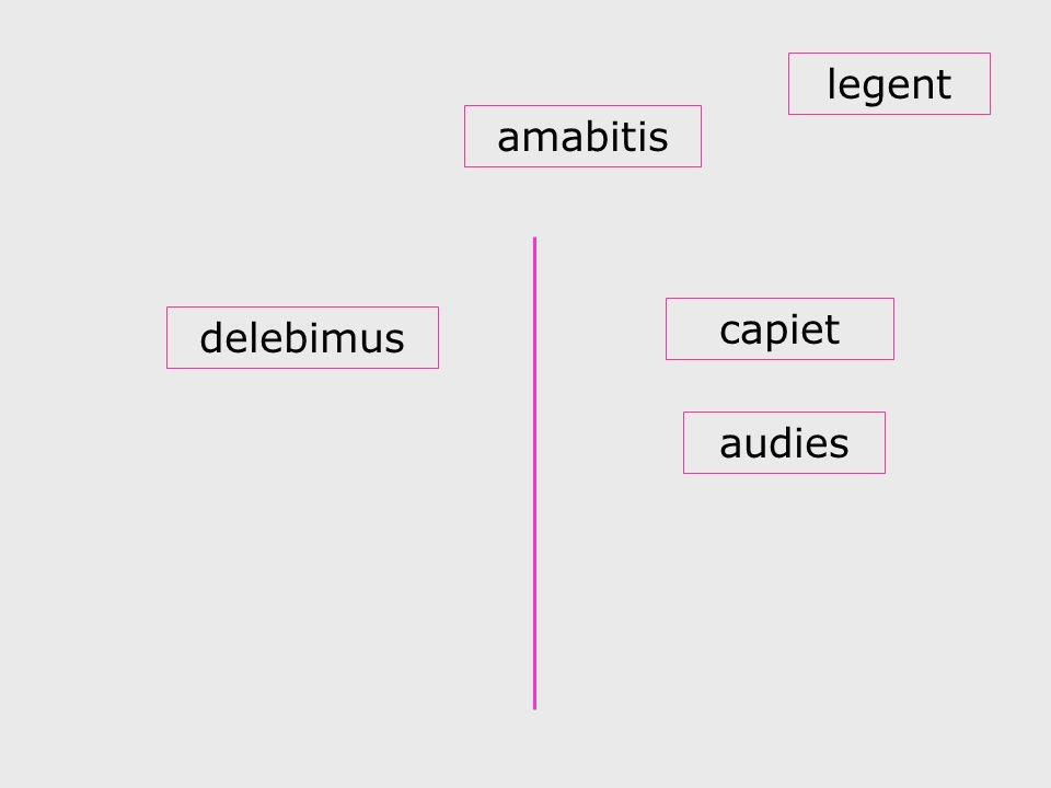 delebimus audies amabitis capiet legent