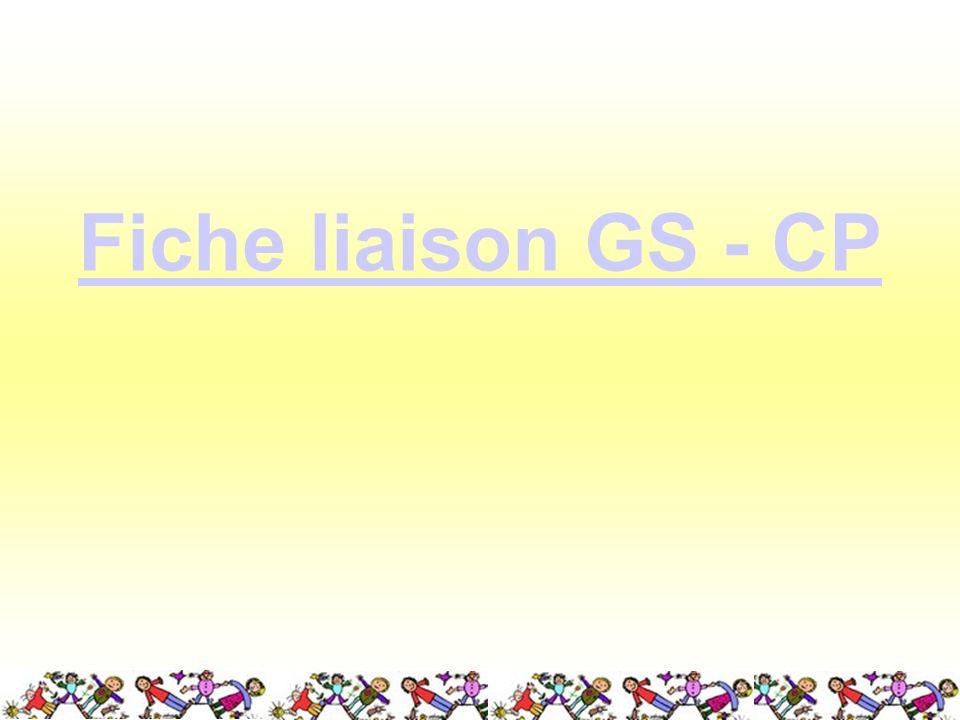 Fiche liaison GS - CP