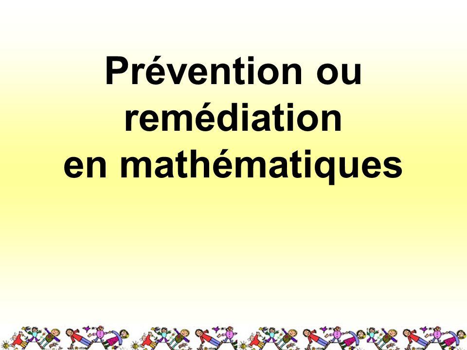 Prévention ou remédiation en mathématiques