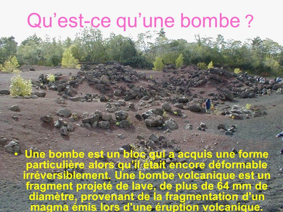 Quest-ce quune bombe ? Une bombe est un bloc qui a acquis une forme particulière alors quil était encore déformable irréversiblement. Une bombe volcan