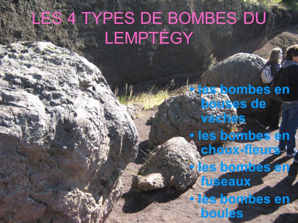 LES BOMBES EN BOUSES DE VACHES Elles sont issues dun magma très fluide émis par le volcan à très haute température.