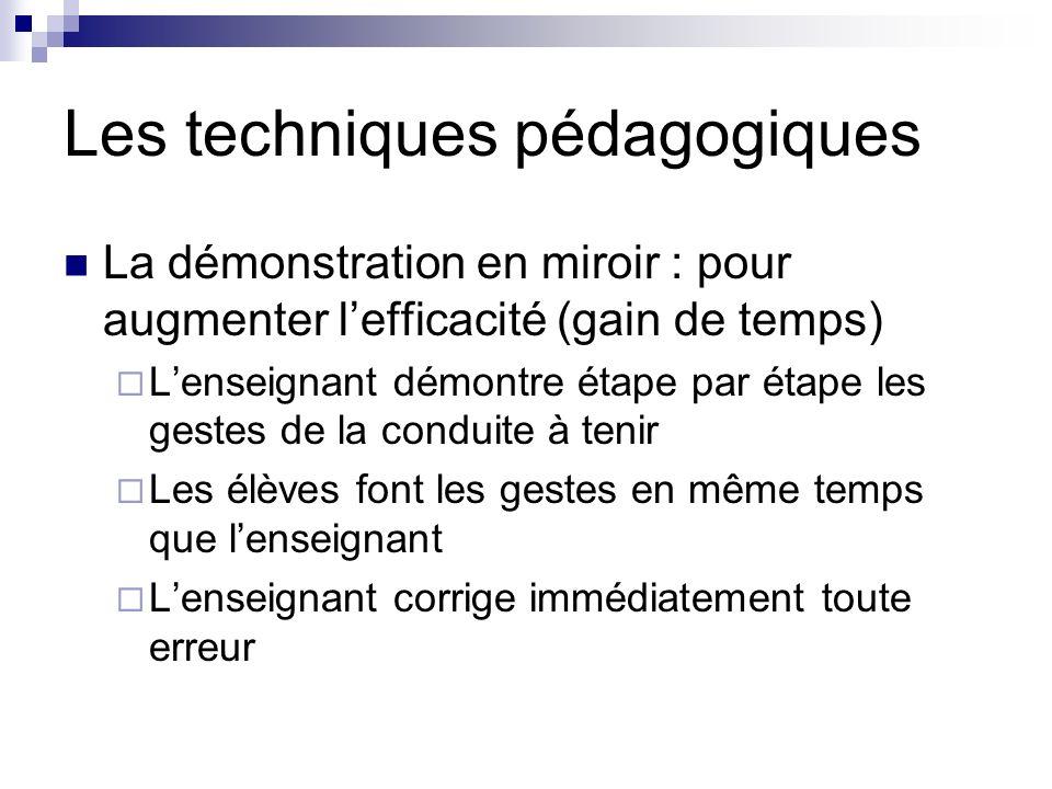 Les techniques pédagogiques Le concept multiposte : pour augmenter lefficacité de lapprentissage (coopération)