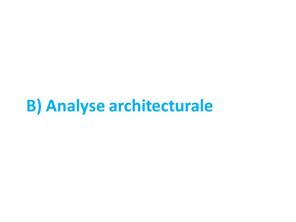 B) Analyse architecturale