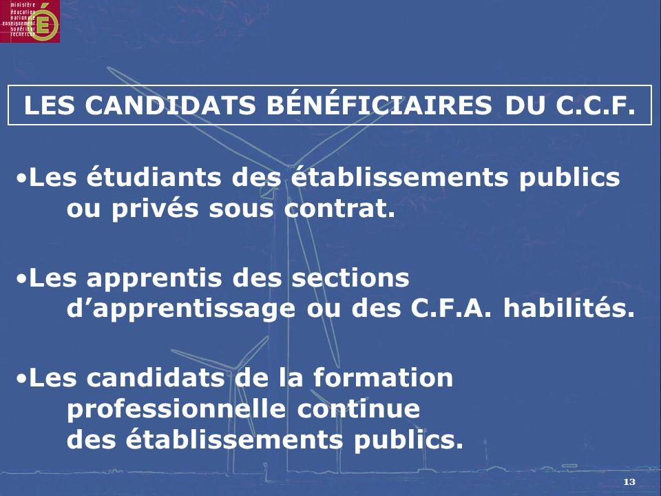 13 Les étudiants des établissements publics ou privés sous contrat.
