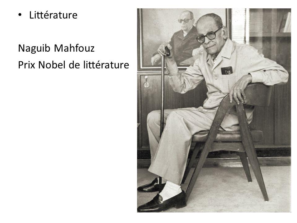 Littérature Naguib Mahfouz Prix Nobel de littérature