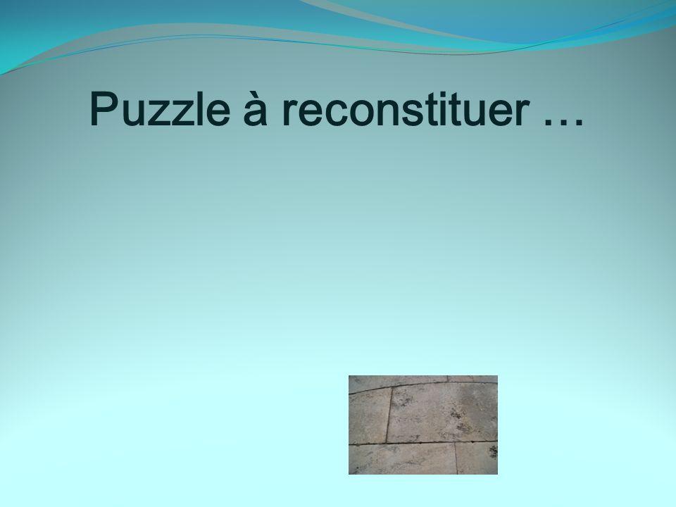 Puzzle à reconstituer …