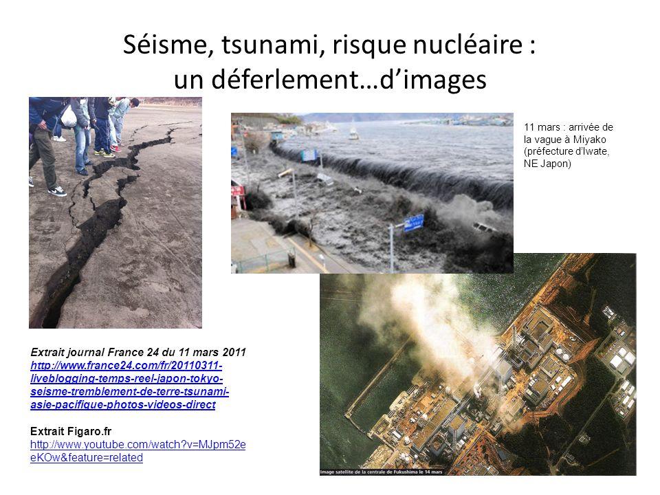 Séisme, tsunami, risque nucléaire : un déferlement…dimages Extrait journal France 24 du 11 mars 2011 http://www.france24.com/fr/20110311- liveblogging