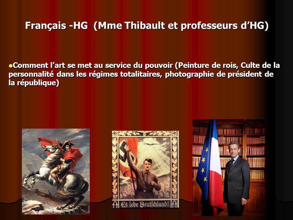 Français -HG (Mme Thibault et professeurs dHG) Comment lart se met au service du pouvoir (Peinture de rois, Culte de la personnalité dans les régimes