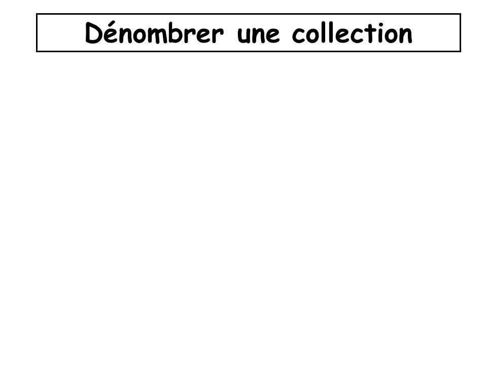 Dénombrer une collection