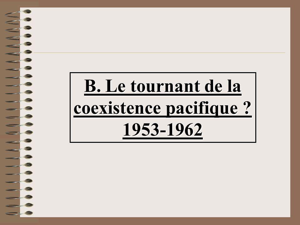 B. Le tournant de la coexistence pacifique ? 1953-1962