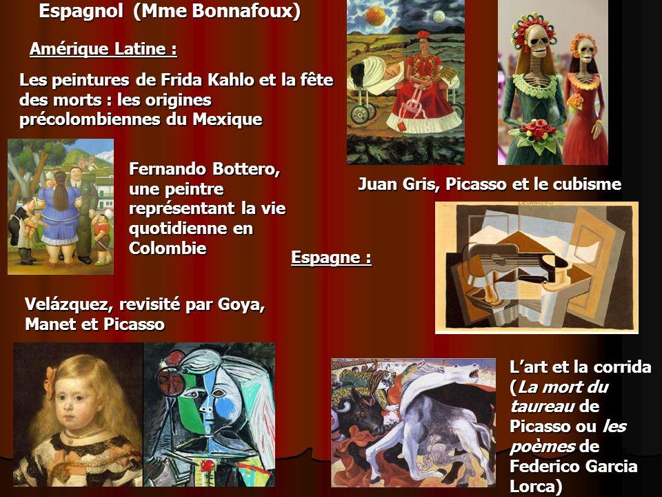 Espagnol (Mme Bonnafoux) Amérique Latine : Les peintures de Frida Kahlo et la fête des morts : les origines précolombiennes du Mexique Fernando Botter