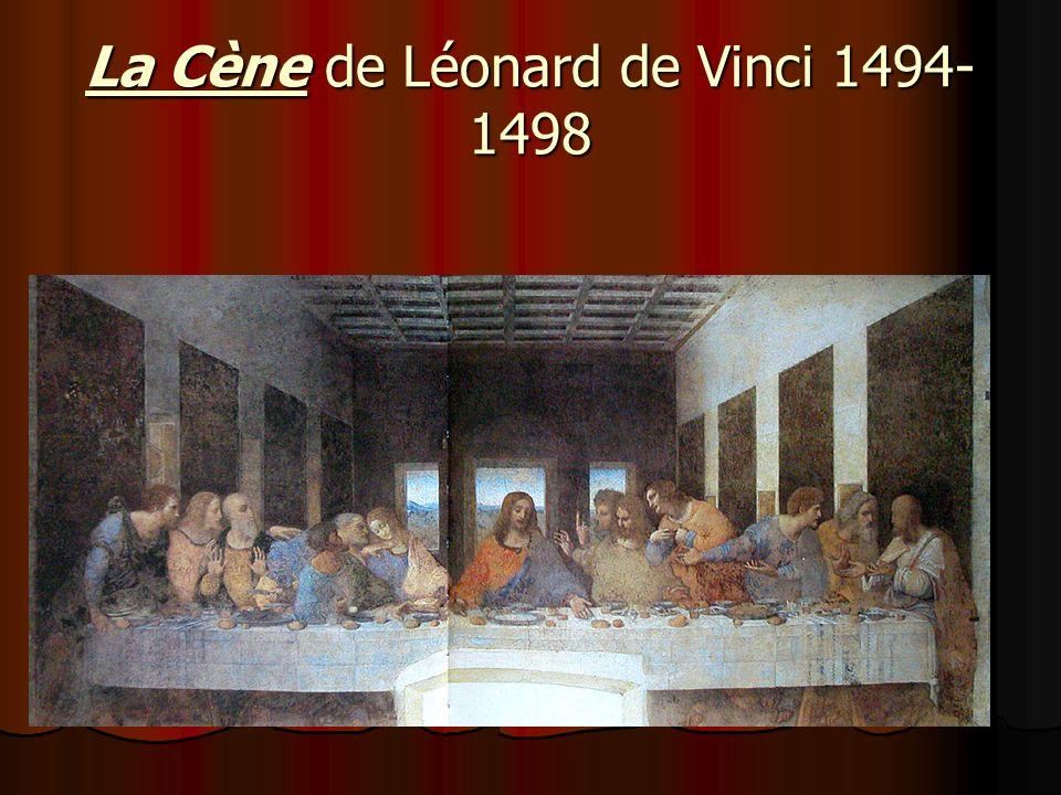 La Cène de Léonard de Vinci 1494- 1498