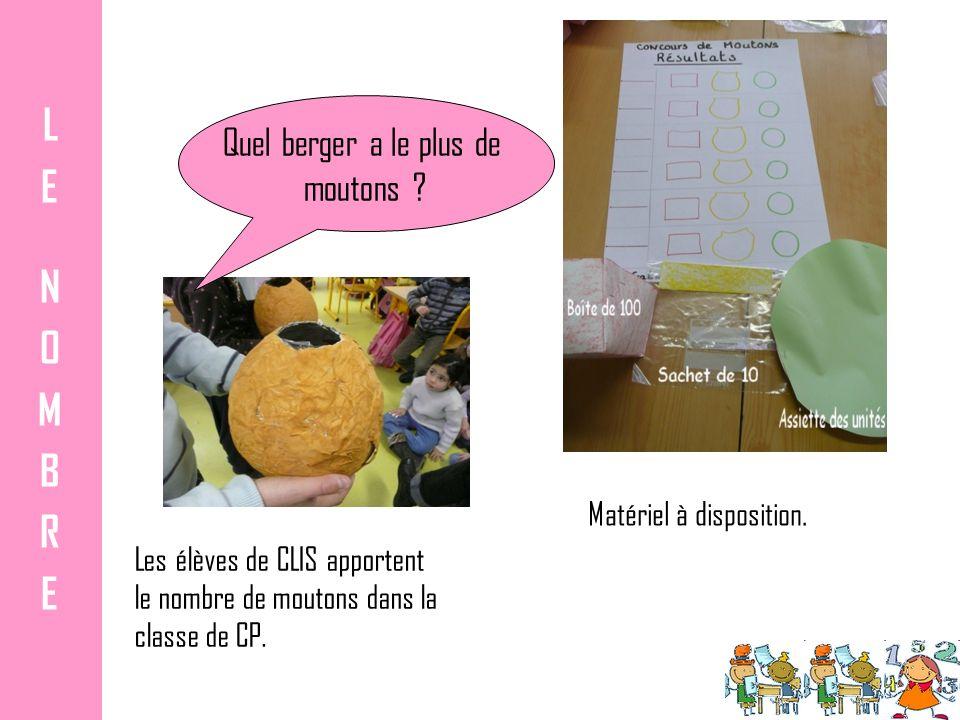 Les élèves de CLIS apportent le nombre de moutons dans la classe de CP.