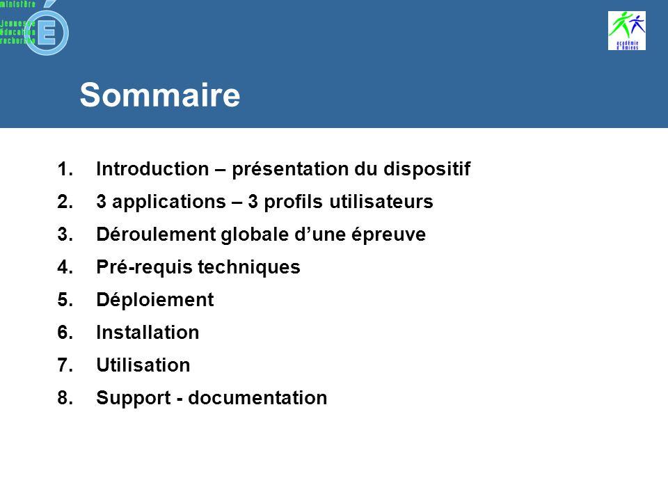 Préparation de lEpreuve@SSR application Epreuve@SSR Fin de session application Epreuve@SSR application Admin@SSR Résultats application Admin@SSR