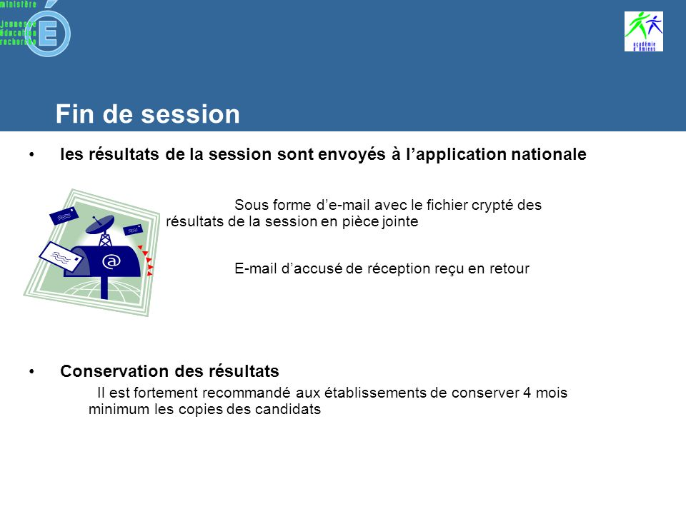 Fin de session Impression des attestations @SSR Allez dans le menu « Clôturer la session» et « imprimer les attestations » Un fichier de format PDF souvre.