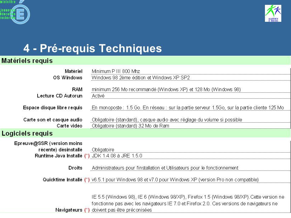 Sommaire Préparation de linstallation Sécurité Configuration réseau dans les établissements Installation Admin@SSR Installation Epreuve@SSR Installation CD Multimédia