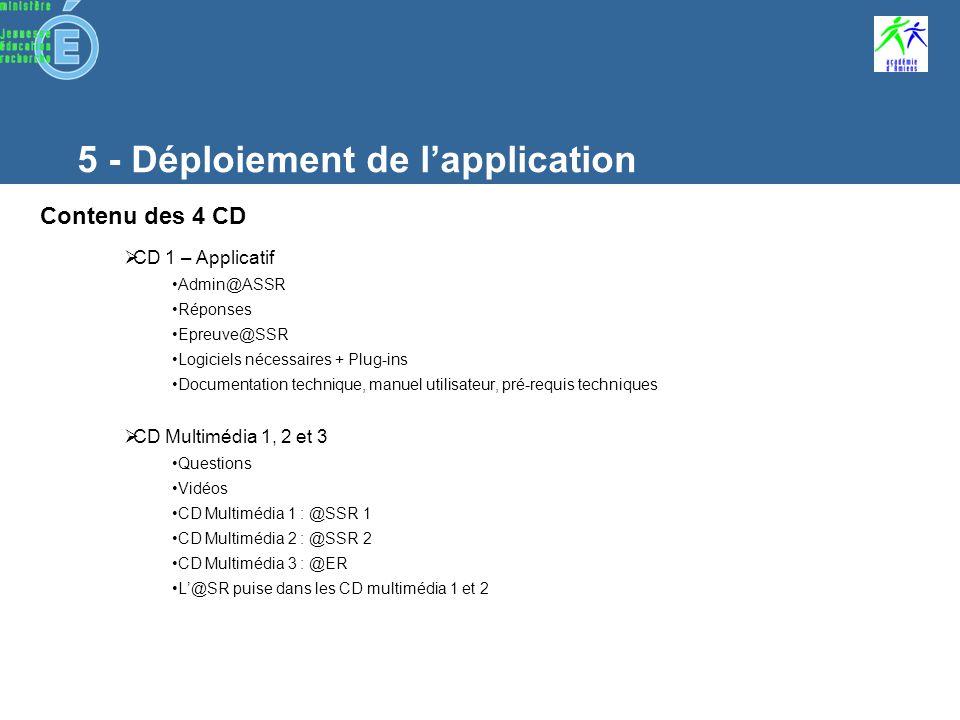 6 - Installation i - Installation des CD Multimedia Caractéristiques des CD Multimédia 3 CD Contiennent : les questions laudio et la vidéo 4 niveaux : ASSR 1, 2, AER et ASR