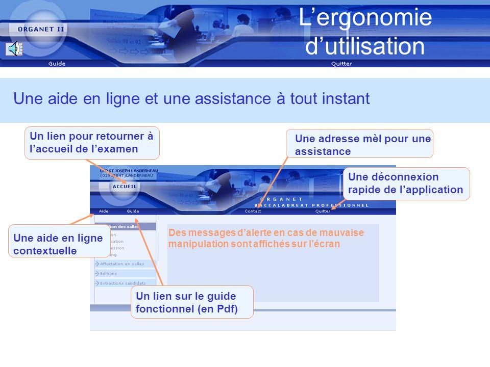 Lergonomie dutilisation Une disposition décran normalisée (EPLE) Lentête présent sur tous les écrans Le menu daccès aux fonctions Le contenu de lécran