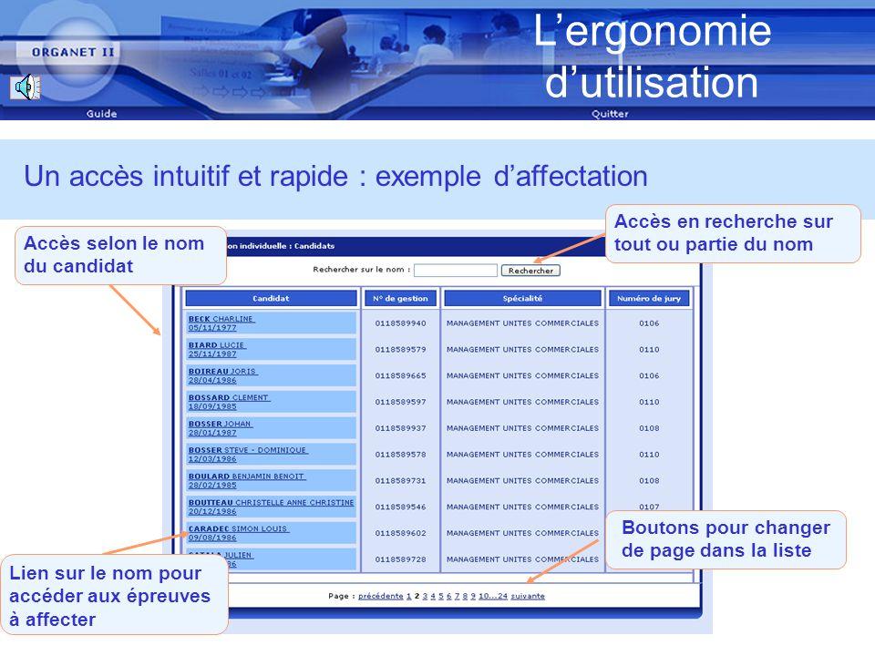 Lergonomie dutilisation Laide en ligne Une aide disponible sur chaque écran Une information détaillée et contextuelle sur son contenu : La description