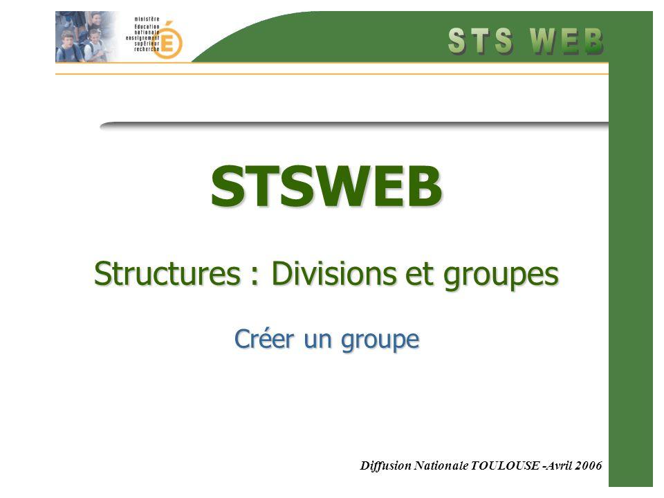 2 Structures : Définitions Structures : La structures dun établissement est lensemble des divisions et des groupes permettant dorganiser les classes et les groupes doptions.